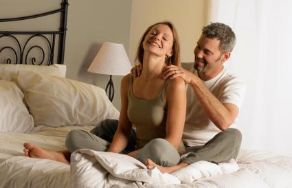 Man Massaging Woman