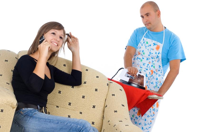 husband doing housework