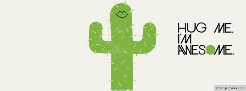cactus hug me facebook cover 1345311796